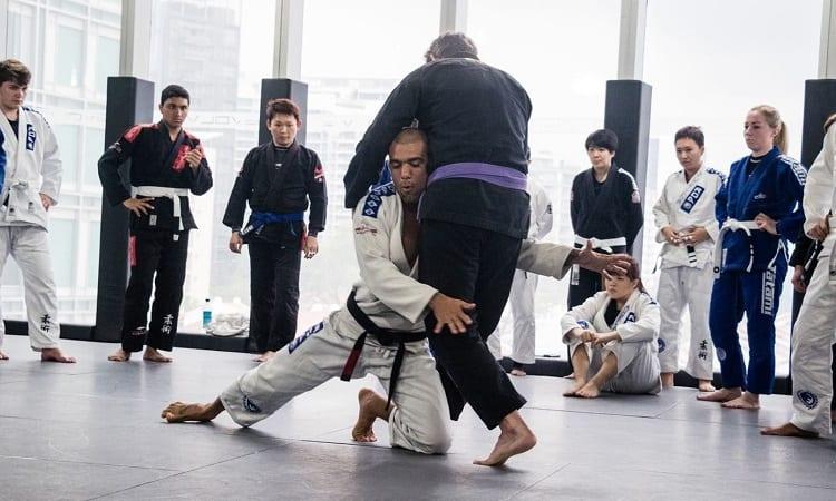 BJJ training for beginners