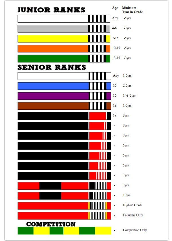 BJJ rank system