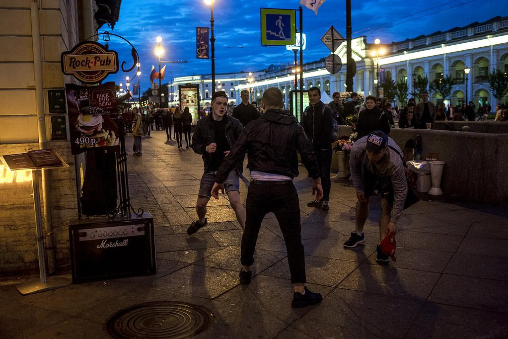 Street bar fight