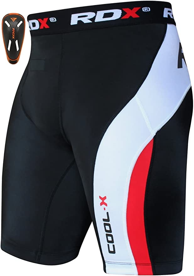 RDX MMA Compression Thermal Shorts With Groin Cup